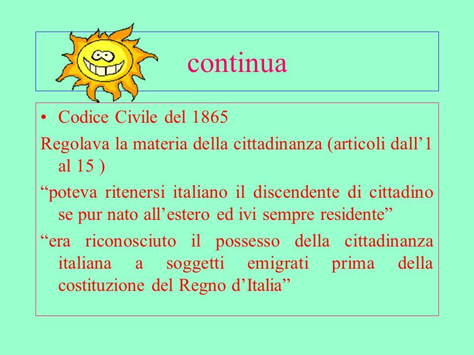 continua Codice Civile del 1865
