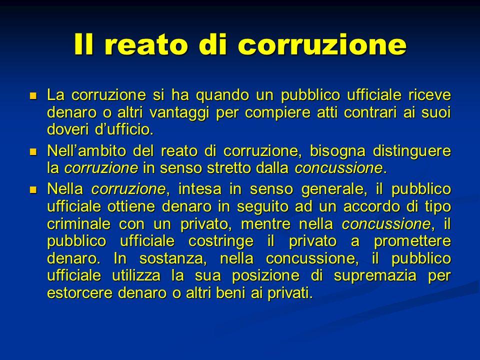 Il reato di corruzione