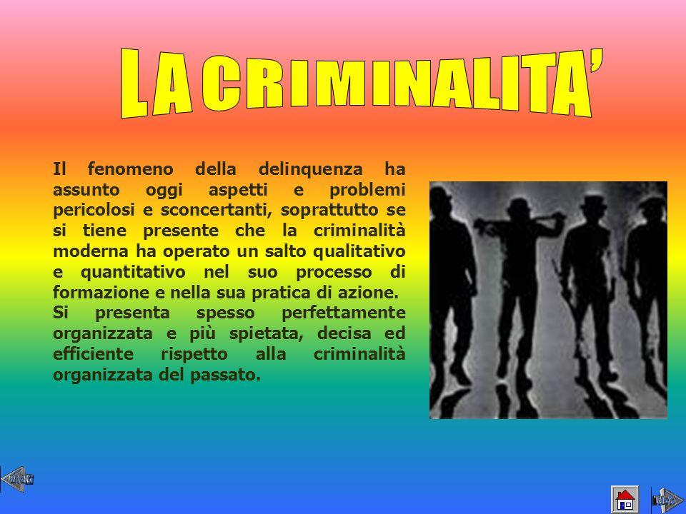 LA CRIMINALITA'