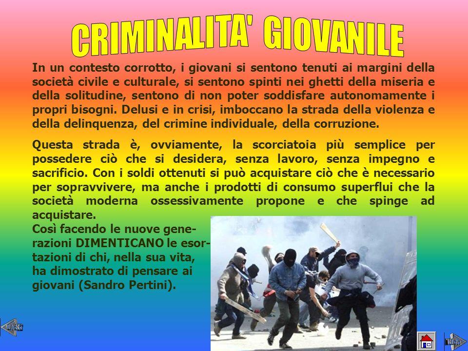 CRIMINALITA GIOVANILE