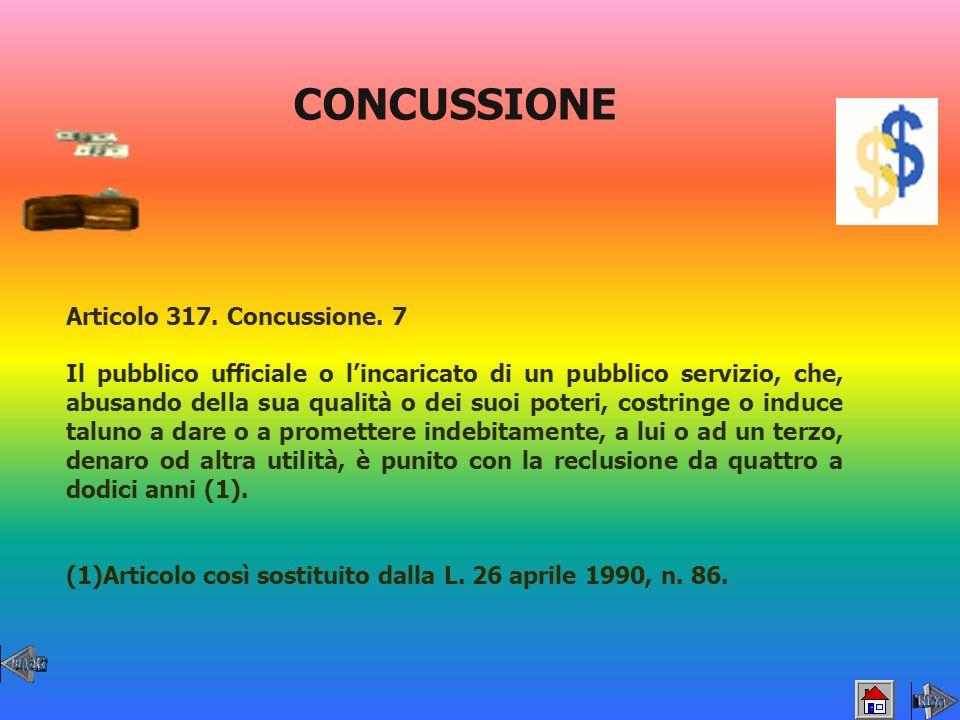 CONCUSSIONE Articolo 317. Concussione. 7
