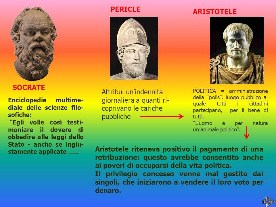 PERICLE ARISTOTELE SOCRATE