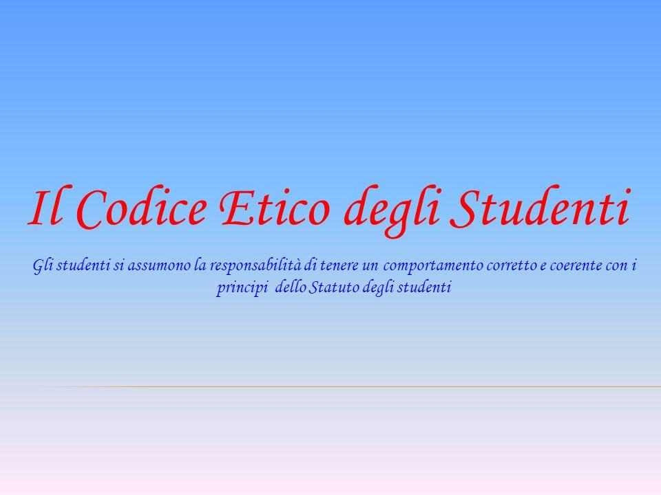 Il Codice Etico degli Studenti