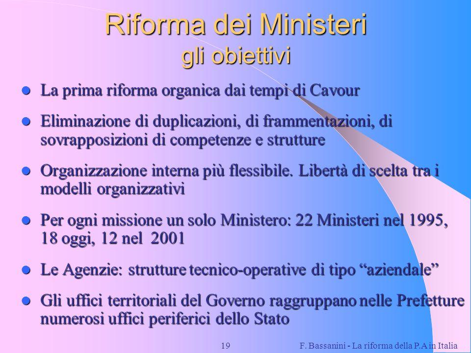 Riforma dei Ministeri gli obiettivi