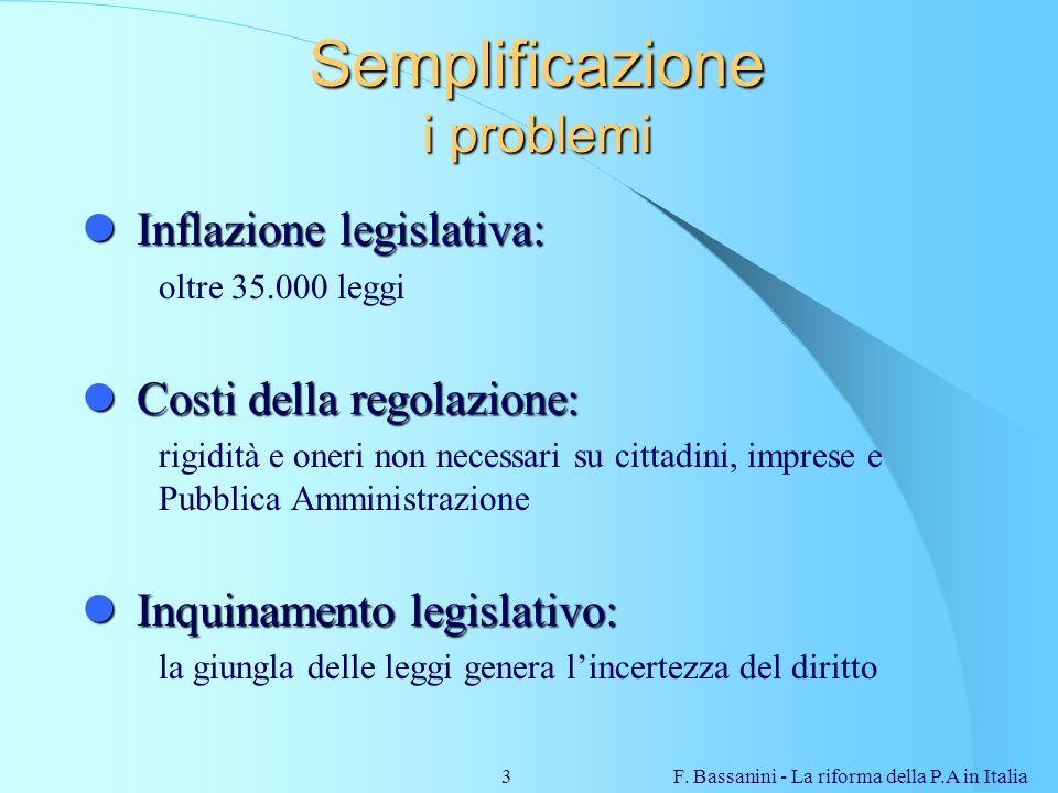 Semplificazione i problemi