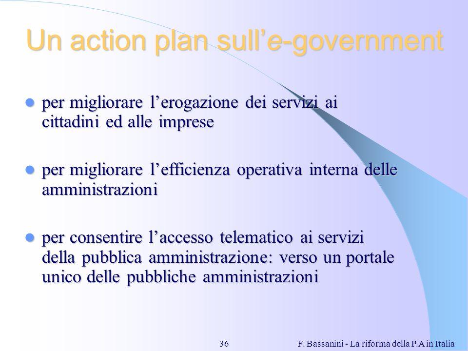 Un action plan sull'e-government