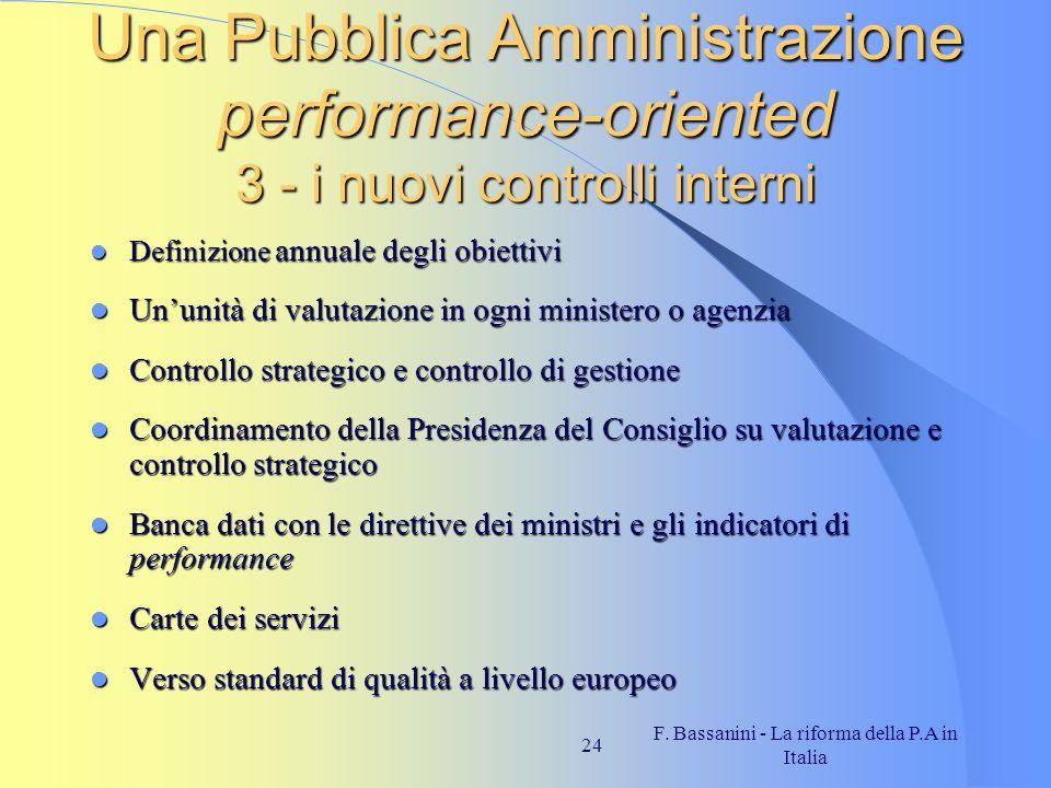 F. Bassanini - La riforma della P.A in Italia