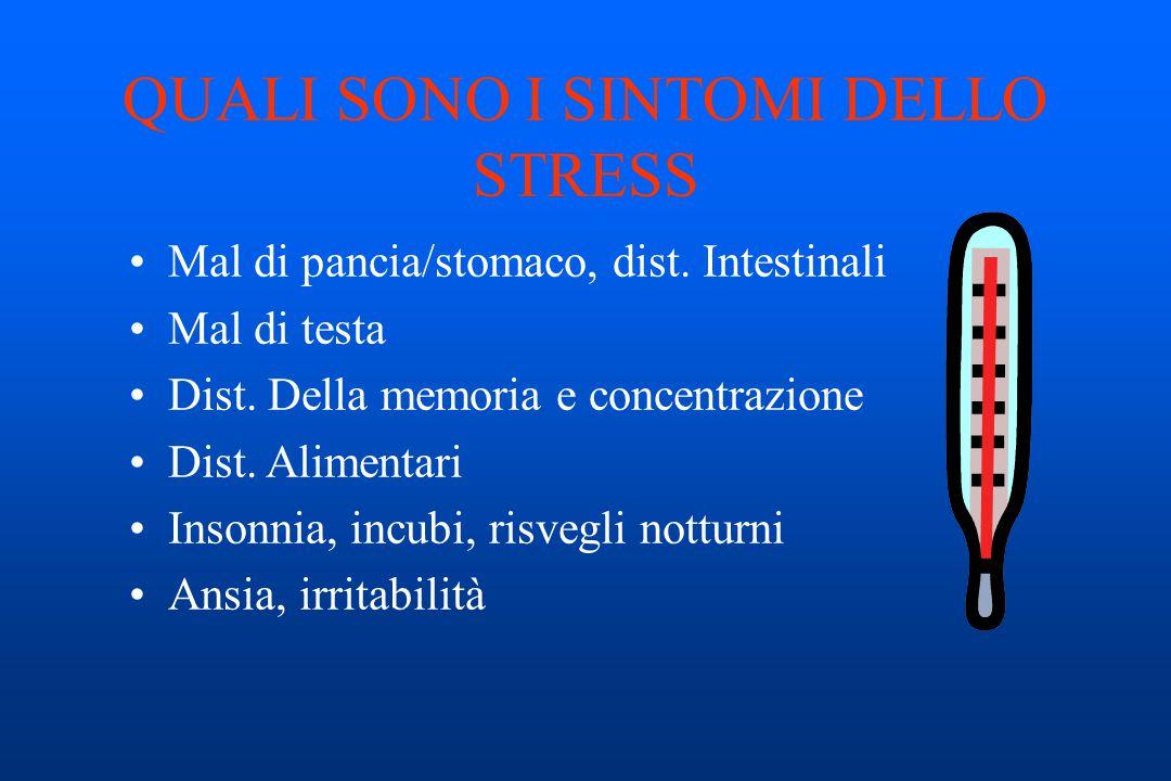 QUALI SONO I SINTOMI DELLO STRESS