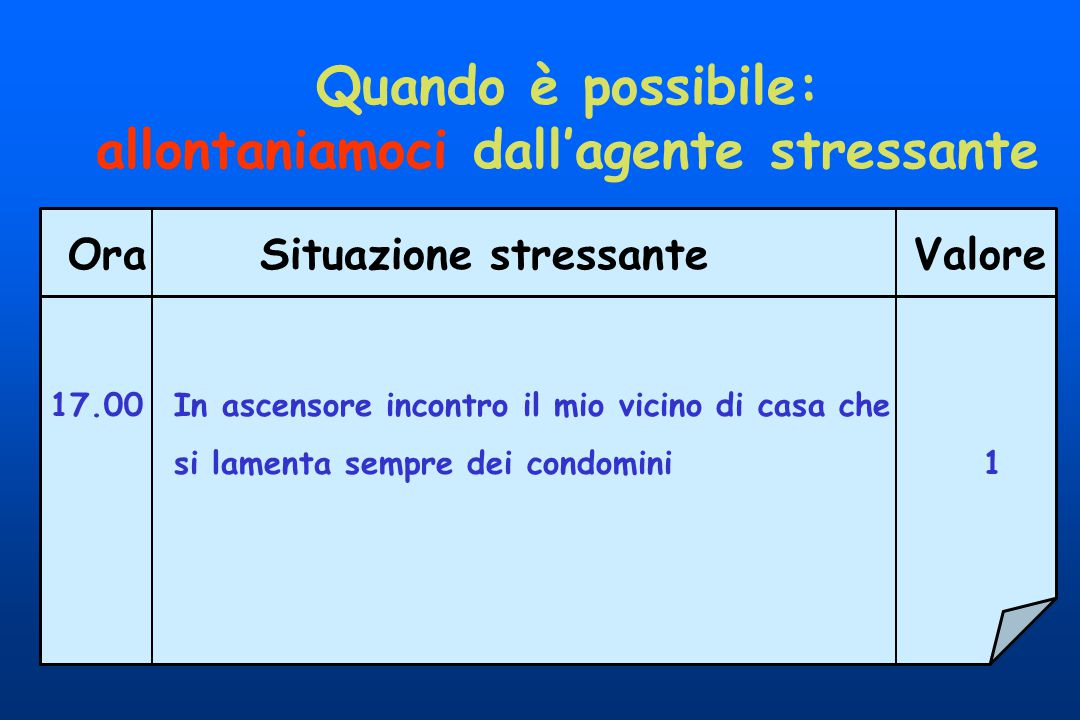 allontaniamoci dall'agente stressante