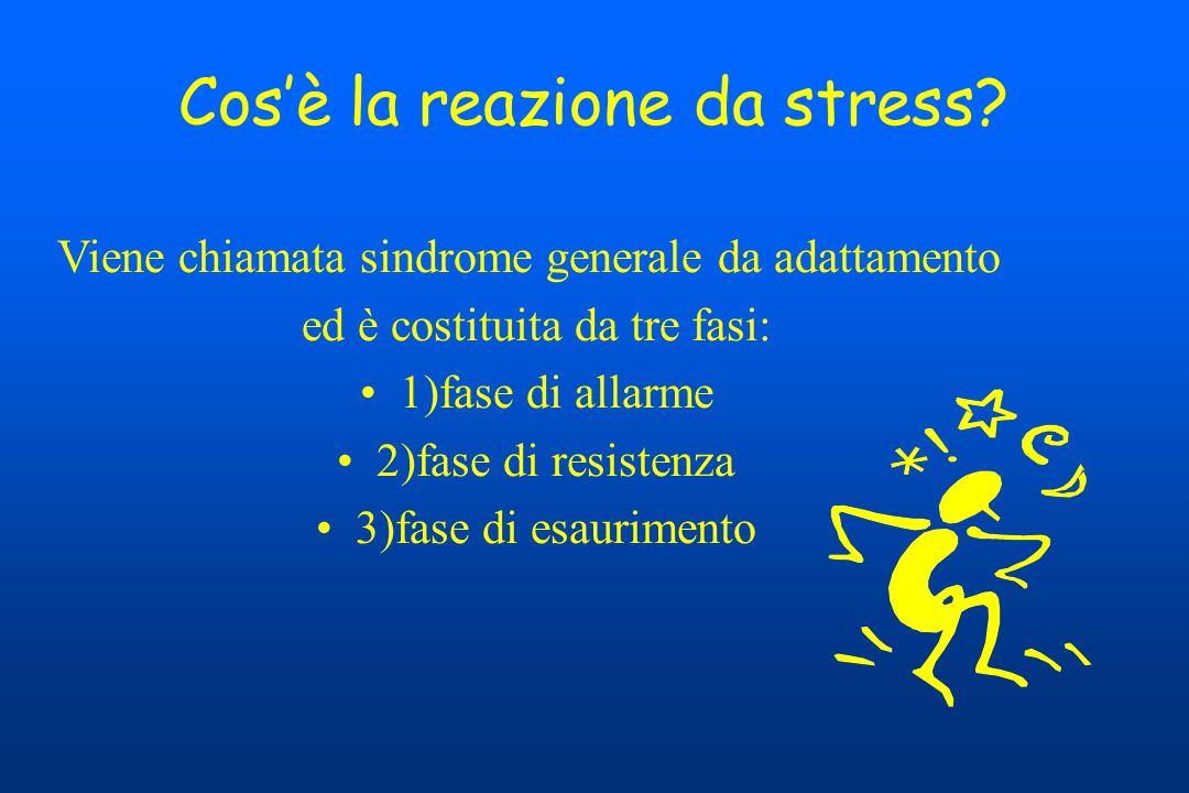 Cos'è la reazione da stress