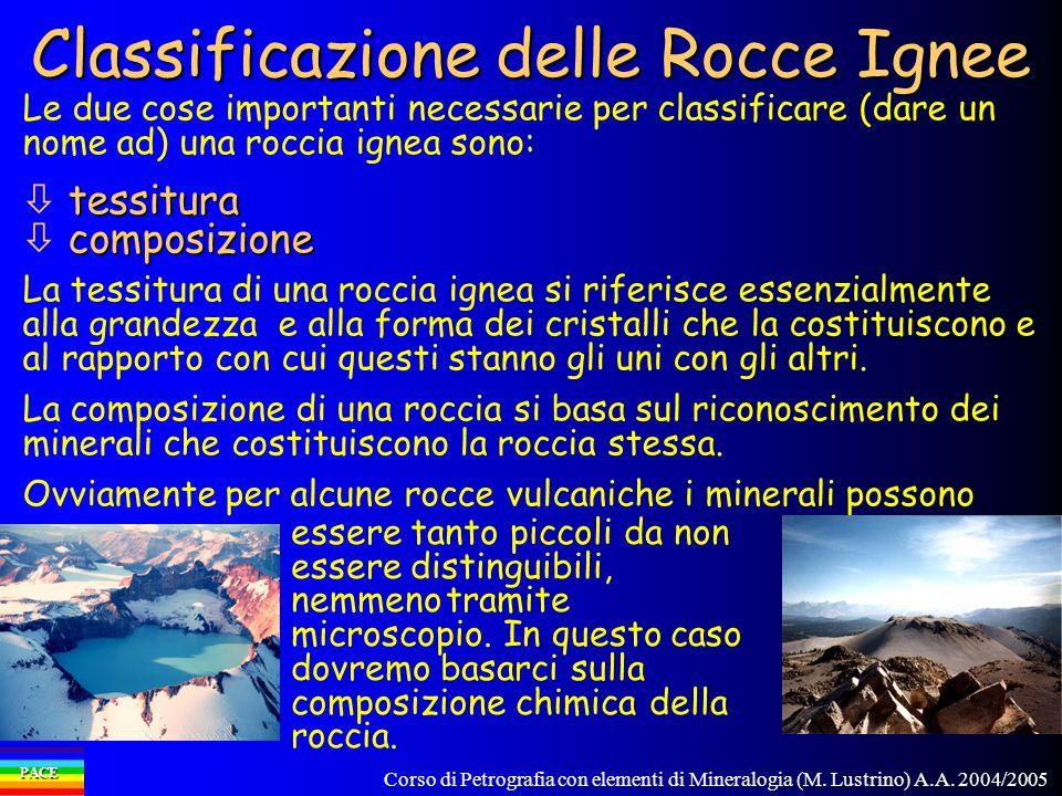 Classificazione delle Rocce Ignee