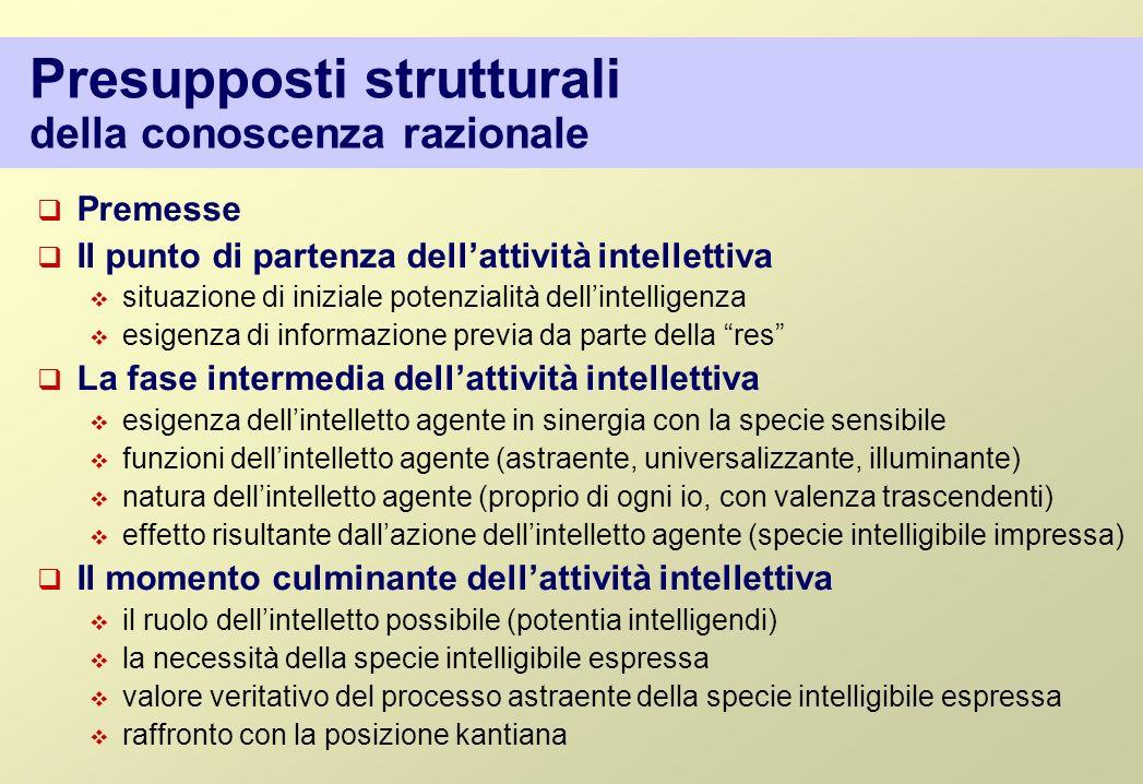 Presupposti strutturali della conoscenza razionale