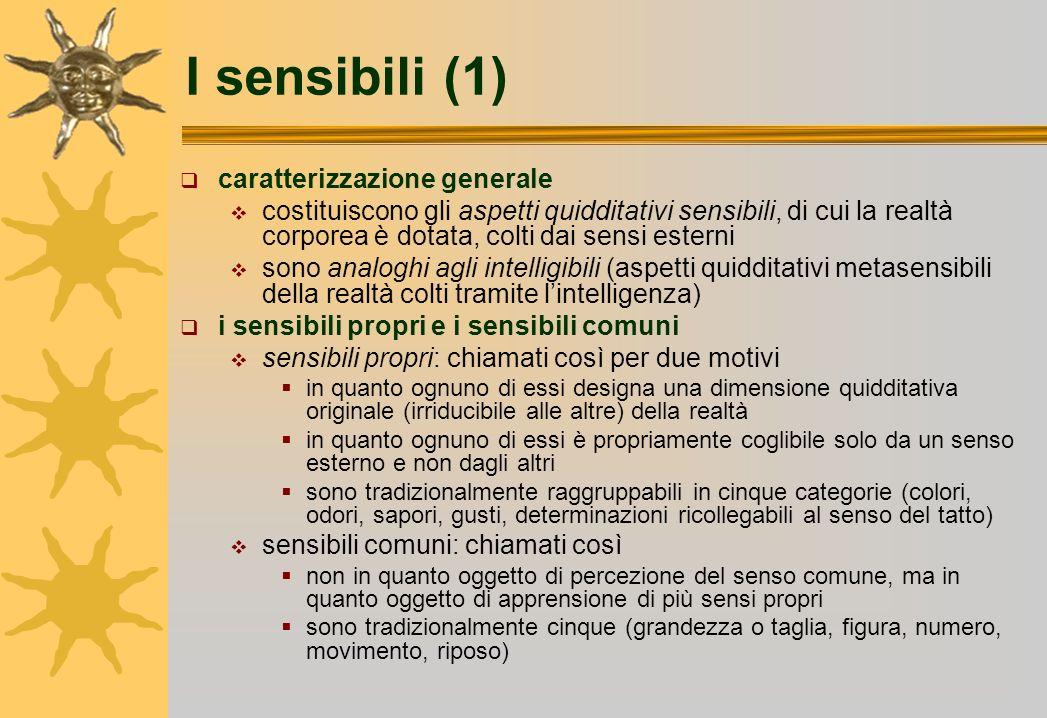 I sensibili (1) caratterizzazione generale