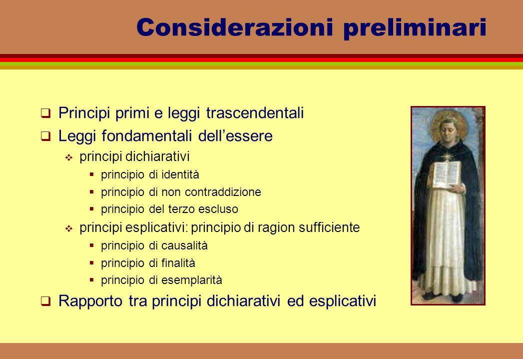 Considerazioni preliminari