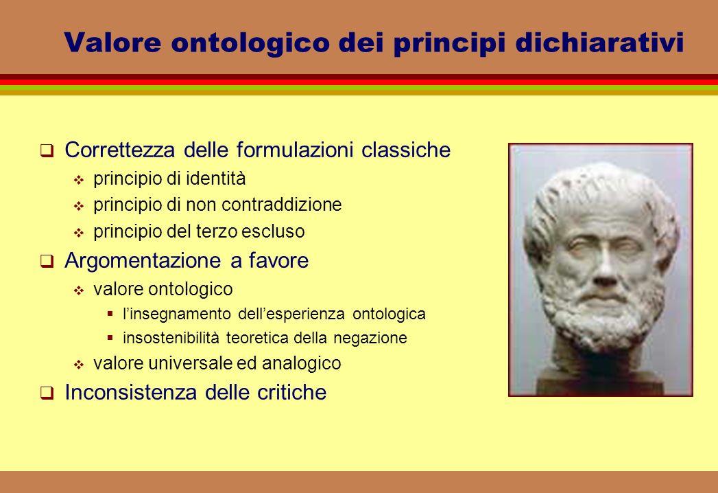 Valore ontologico dei principi dichiarativi