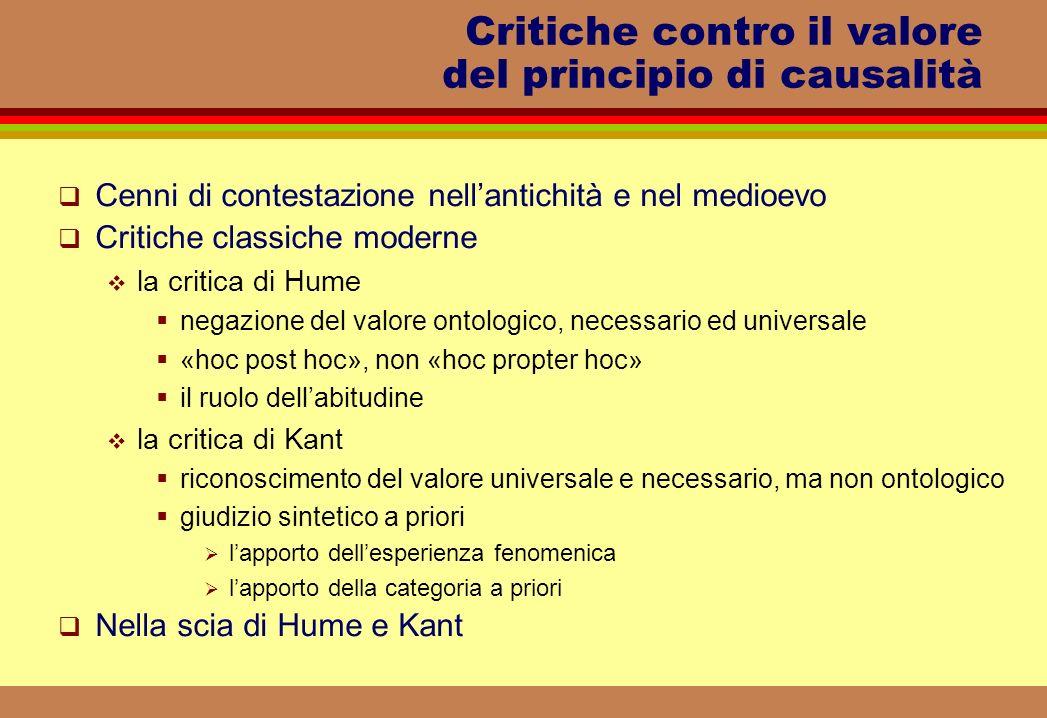 Critiche contro il valore del principio di causalità