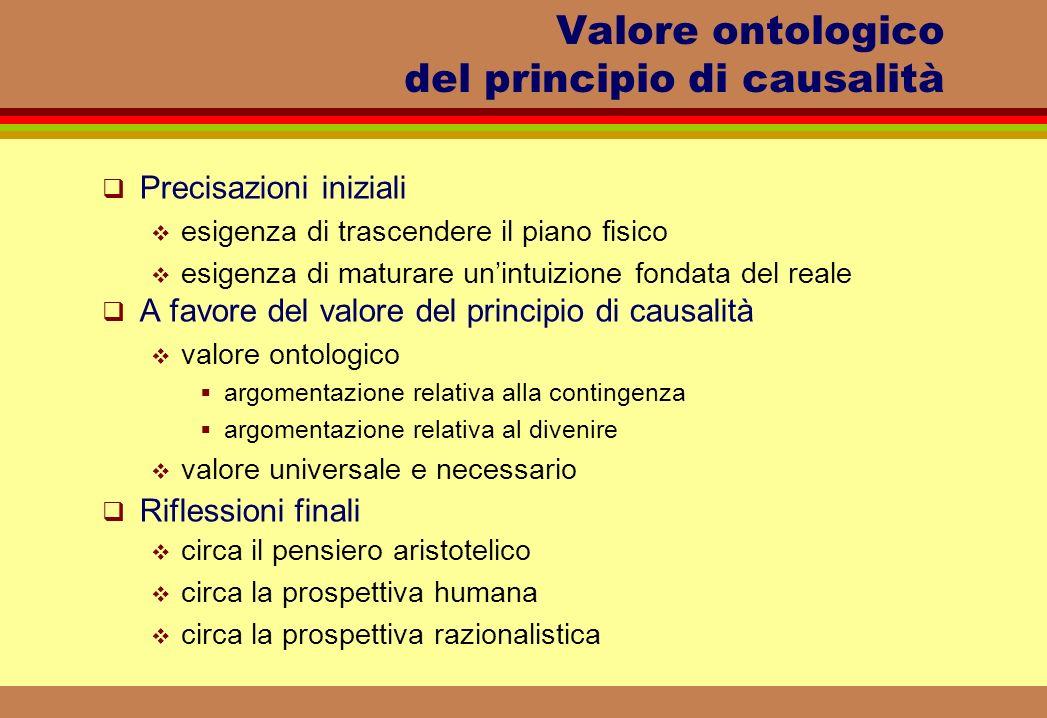 Valore ontologico del principio di causalità