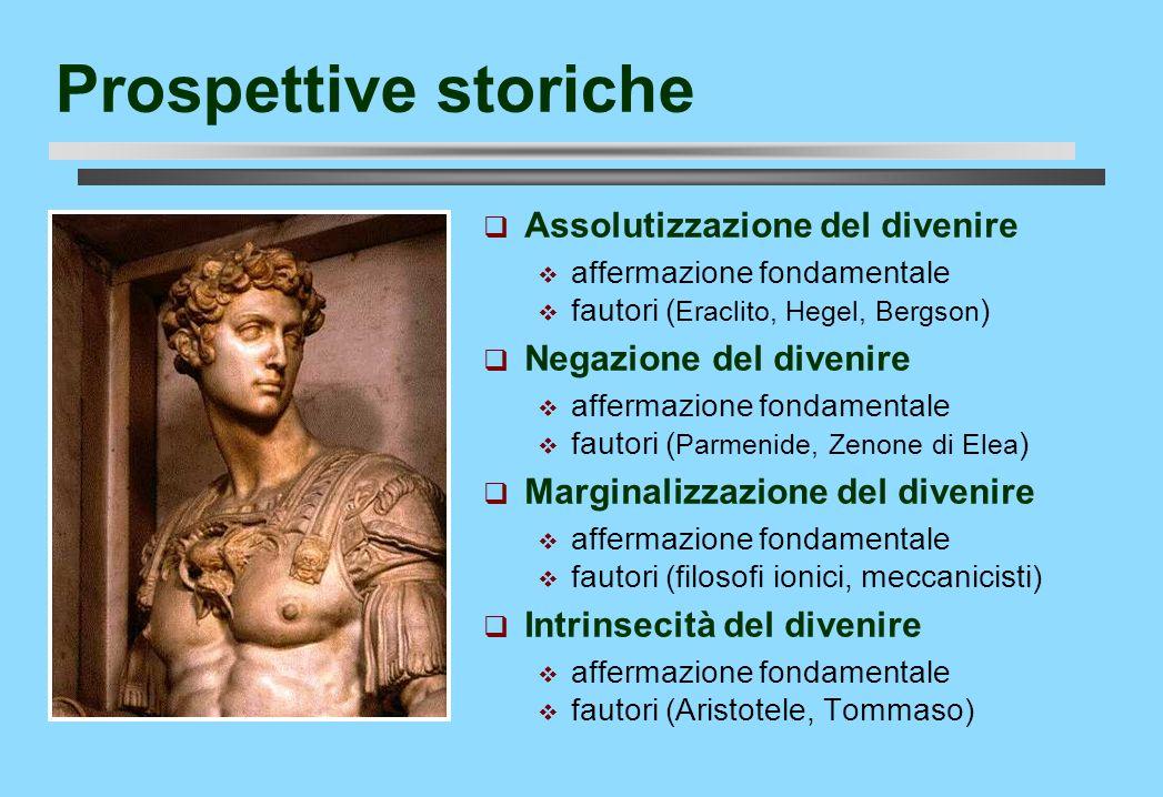 Prospettive storiche Assolutizzazione del divenire