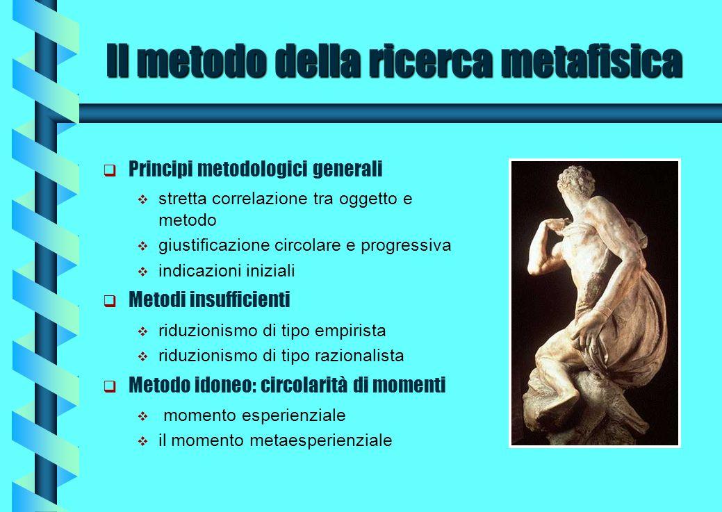 Il metodo della ricerca metafisica