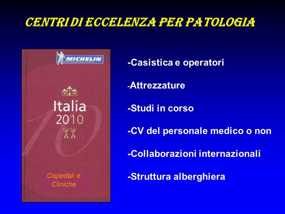 Centri di eccelenza per patologia