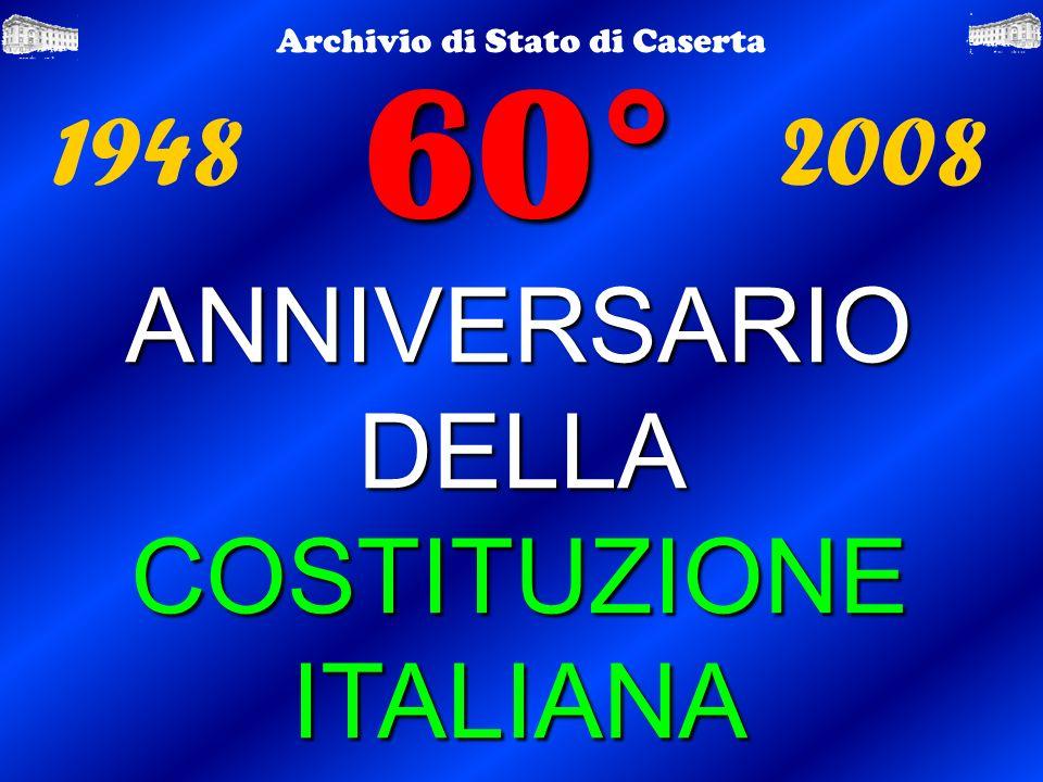 60° ANNIVERSARIO DELLA COSTITUZIONE ITALIANA 1948 2008