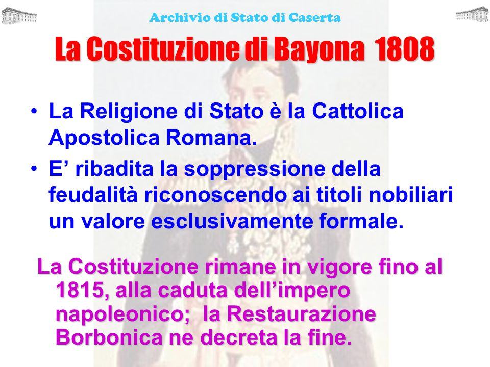 La Costituzione di Bayona 1808
