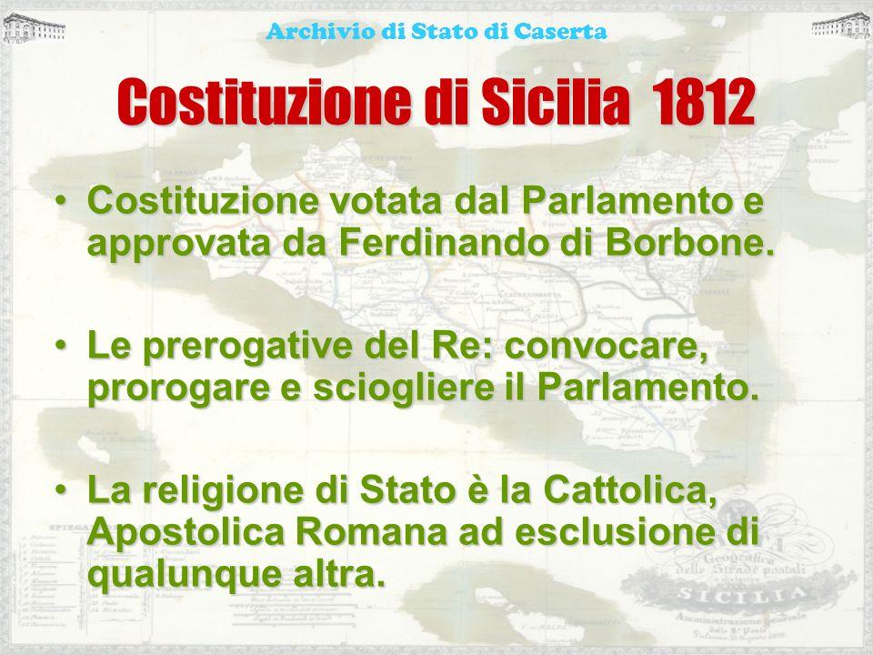 Costituzione di Sicilia 1812