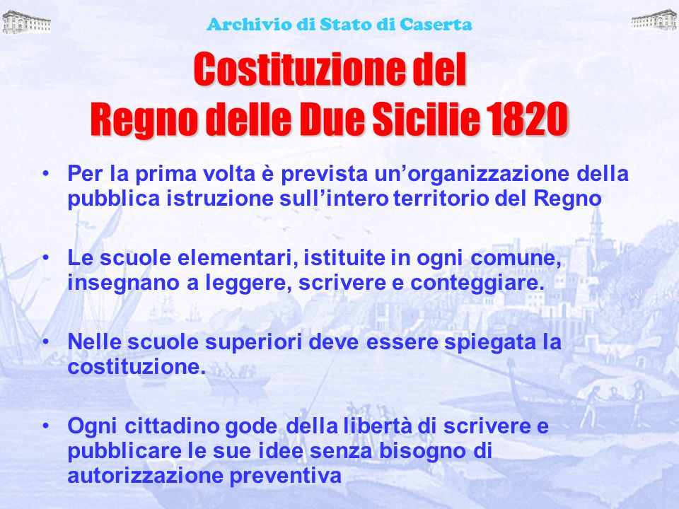 Costituzione del Regno delle Due Sicilie 1820