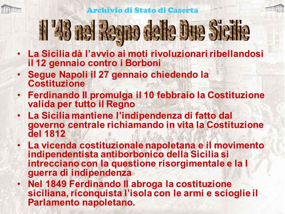 Il 48 nel Regno delle Due Sicilie