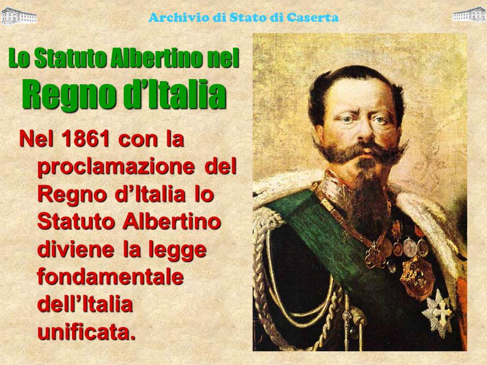 Lo Statuto Albertino nel Regno d'Italia