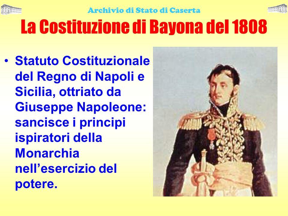 La Costituzione di Bayona del 1808