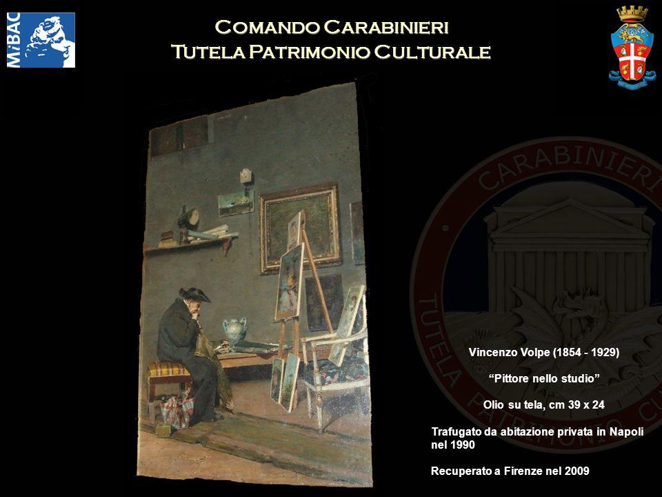 Comando Carabinieri Tutela Patrimonio Culturale Pittore nello studio