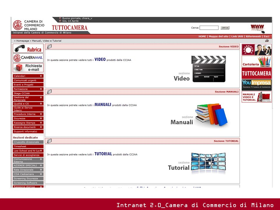 Intranet 2.0_Camera di Commercio di Milano