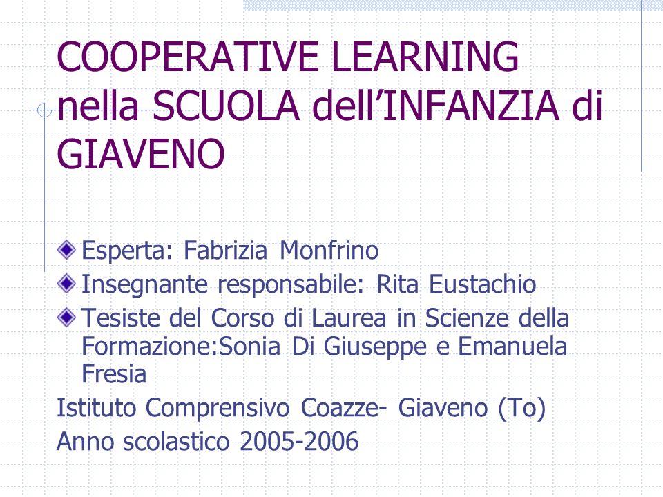 COOPERATIVE LEARNING nella SCUOLA dell'INFANZIA di GIAVENO
