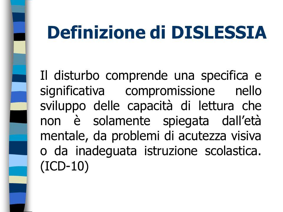 Definizione di DISLESSIA