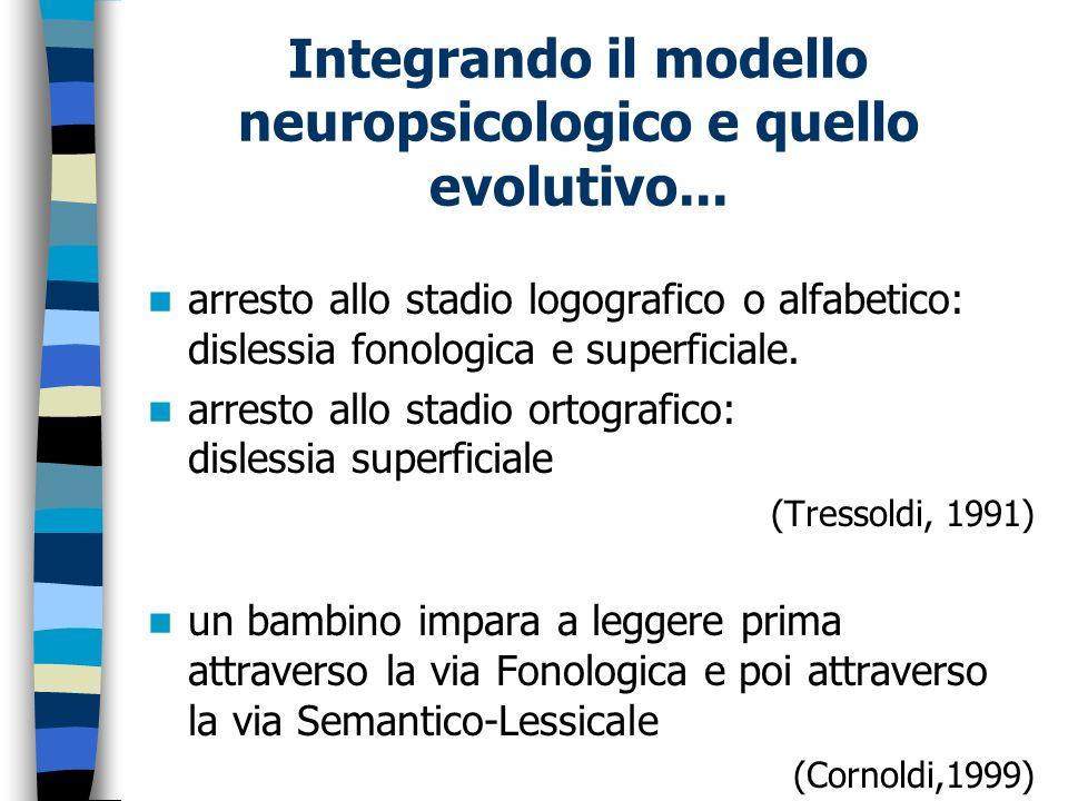 Integrando il modello neuropsicologico e quello evolutivo...