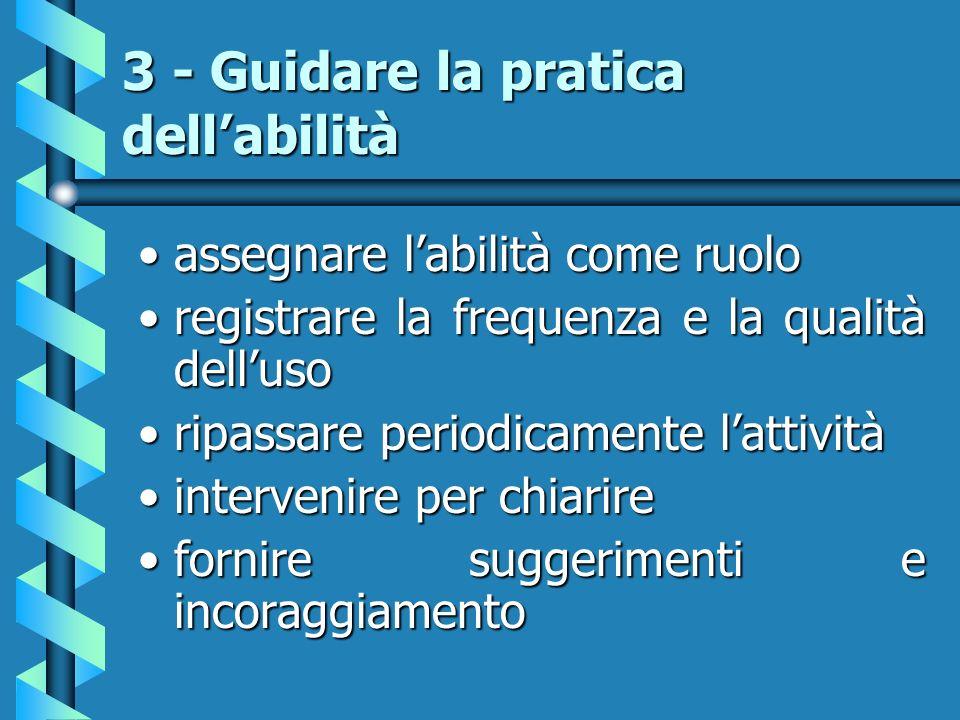 3 - Guidare la pratica dell'abilità