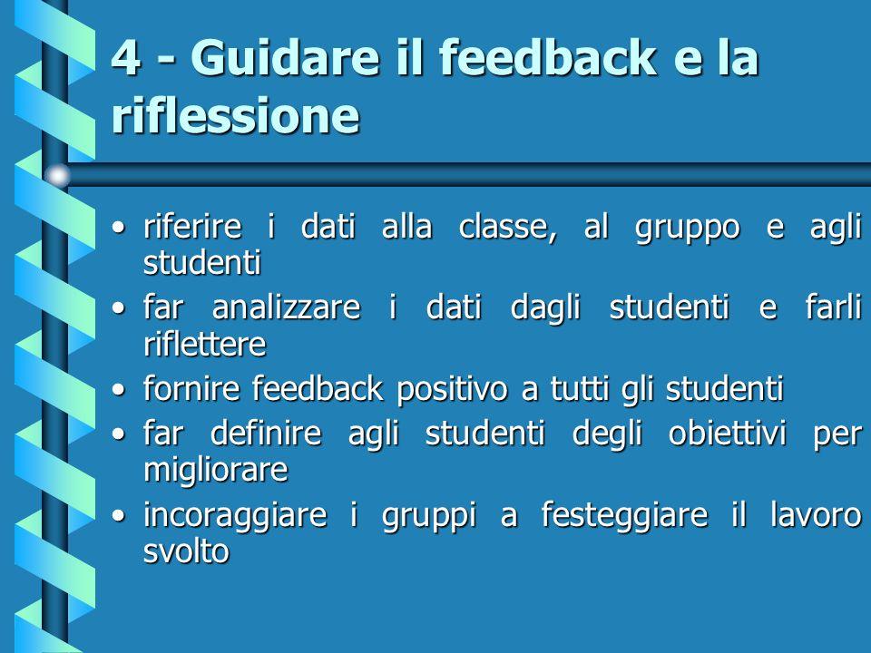 4 - Guidare il feedback e la riflessione
