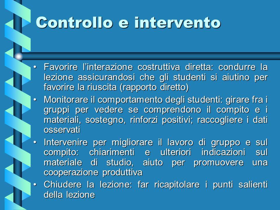 Controllo e intervento