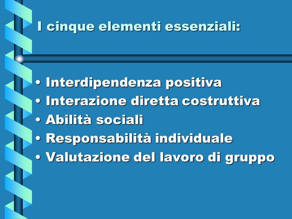 I cinque elementi essenziali: