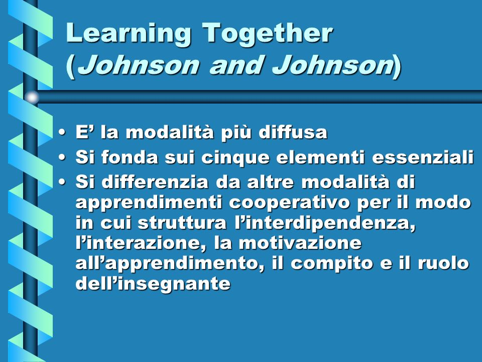 Learning Together (Johnson and Johnson)