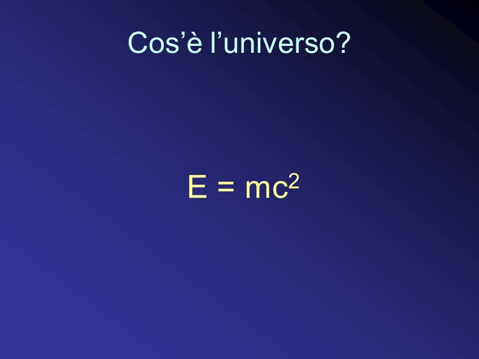 Cos'è l'universo E = mc2