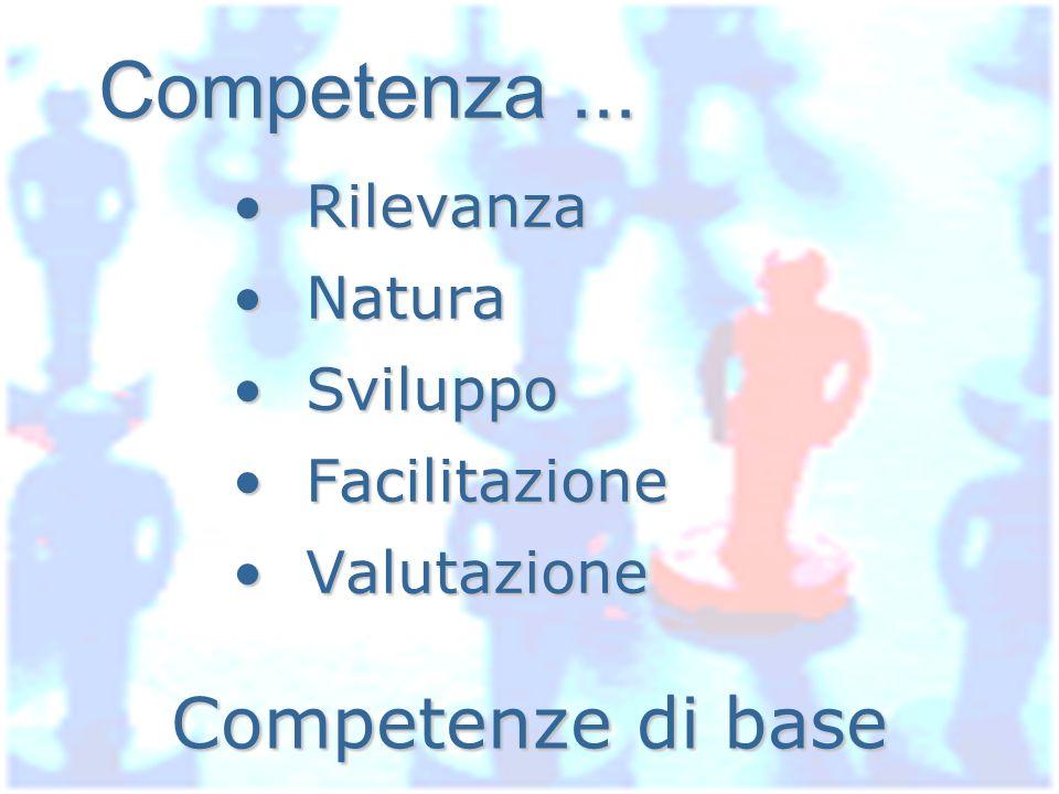 Competenza ... Competenze di base Rilevanza Natura Sviluppo