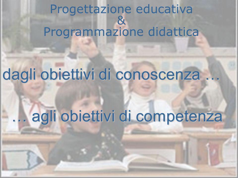 Progettazione educativa & Programmazione didattica