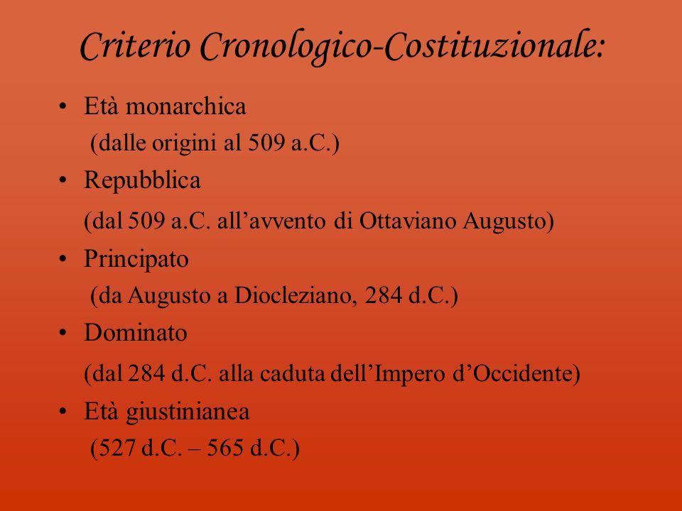 Criterio Cronologico-Costituzionale: