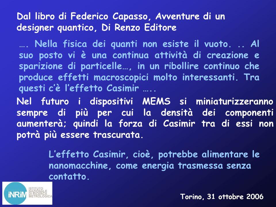 Dal libro di Federico Capasso, Avventure di un designer quantico, Di Renzo Editore