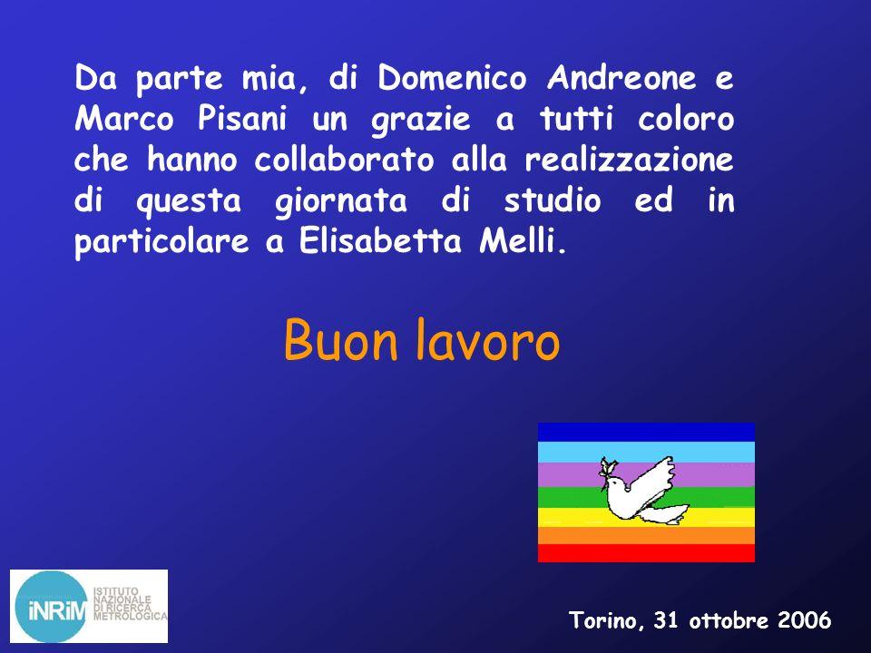 Da parte mia, di Domenico Andreone e Marco Pisani un grazie a tutti coloro che hanno collaborato alla realizzazione di questa giornata di studio ed in particolare a Elisabetta Melli.