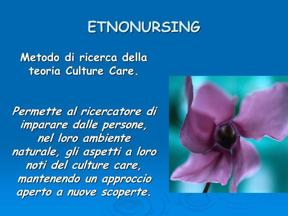 Metodo di ricerca della teoria Culture Care.