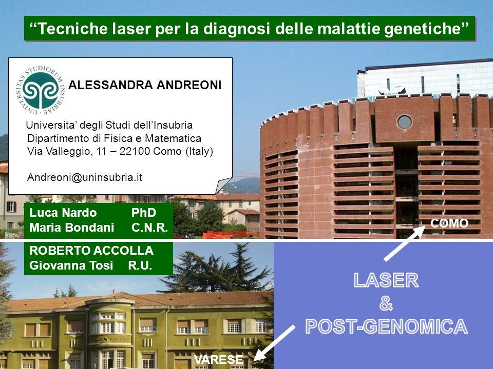 Tecniche laser per la diagnosi delle malattie genetiche