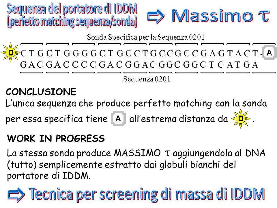 Sequenza del portatore di IDDM e t Massimo
